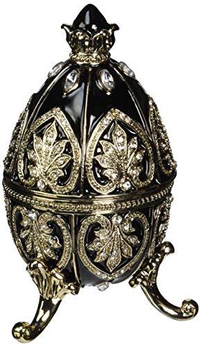 Design Toscano Alexander Palace Faberge-Style Nevsky Enameled Egg in Rich - Styles Ebony