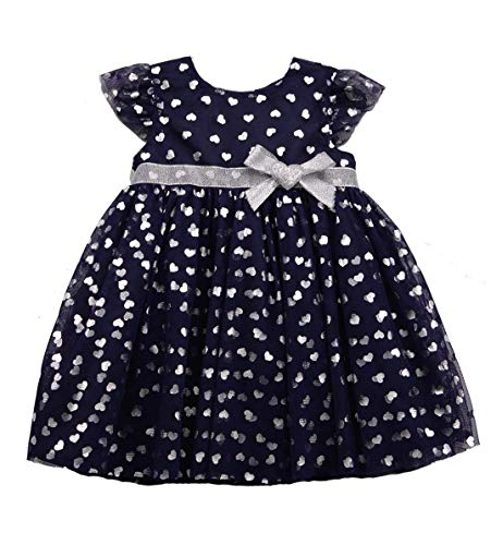 Baby Girls Dresses Kids Tutu Tulle Birthday Wedding Party Special Occasion Playwear Outfits 0-24 Months (18 Month, Navy A8)