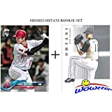 SHOHEI OHTANI 2018 Topps FIRST EVER PRINTED TOPPS ROOKIE Card Los Angeles Angels PLUS BONUS Ohtani Leaf Premier Rookie Limited Edition RC Card! Awesome Ohtani RC Set of Japan's Babe Ruth! WOWZZER!