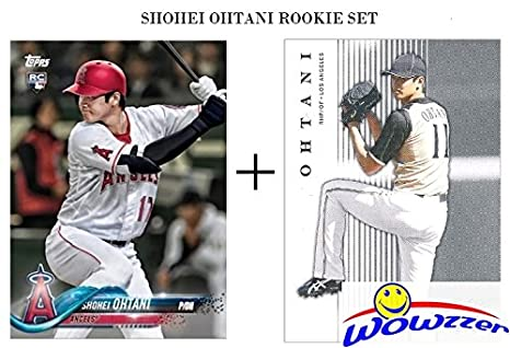 af5fea119d0 SHOHEI OHTANI 2018 Topps FIRST EVER PRINTED TOPPS ROOKIE Card Los Angeles  Angels PLUS BONUS Ohtani
