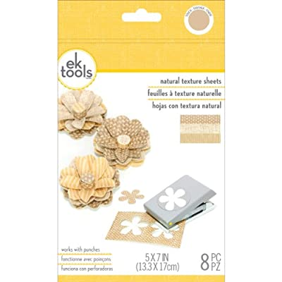 EK tools 55-59023 Natural Woven Texture Punch Material Pack