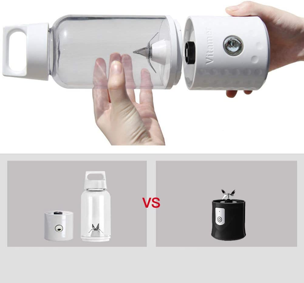 TOHHOT 500ML 4000mAh Portable Mini USB chargeant Le Presse-Fruits Vitamer Bleu Vitamine