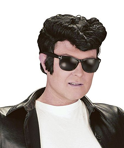 50's Costume Greaser (50's Black Men's Greaser Wig)
