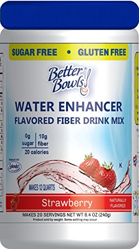 Better Bowls High Fiber Sugar Free Flavored Fiber Drink mix , Strawberry , 8.4 Ounce …