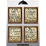 """Harry Potter Quotes & Sayings - Set of 4-8""""x10"""" Prints - Great Harry Potter Gifts (set #1)"""