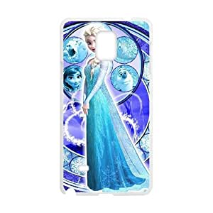 Samsung Galaxy Note 4 White phone case Disney Princess Frozen Elsa DPC9366615