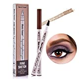Tattoo Eyebrow Pen, Waterproof Ink Gel Tint with Four Tips, Long Lasting Smudge-Proof Natural Hair-Like Defined Brows All Day (Brown)