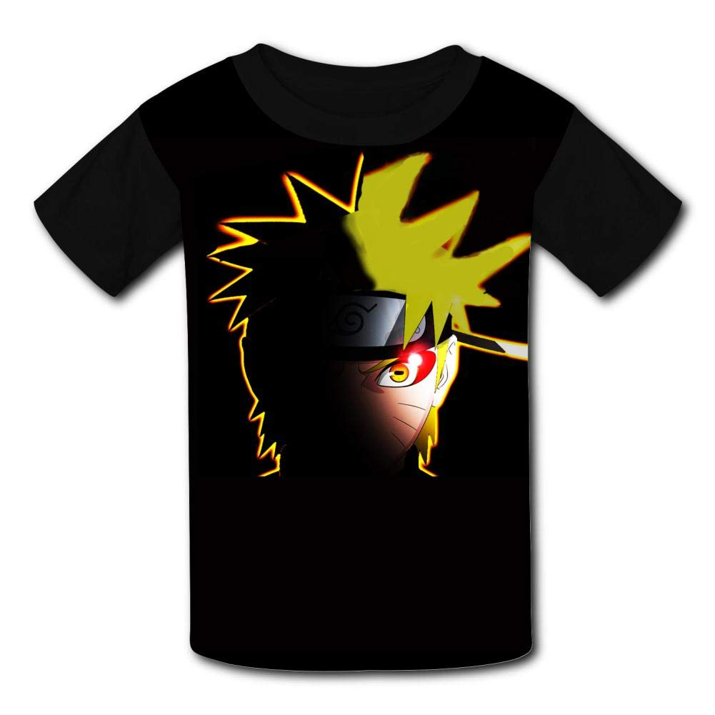 VOPSKJ14 Funny Naruto Moving Youth Unisex Kids 3D Short Sleeve Tees T-Shirts