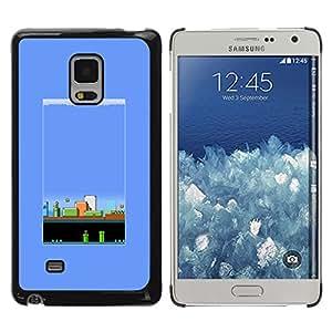 TIMER-CELL Trasera Imagen Diseño Duro Funda Carcasa Negro Borde Tapa Case Skin Cover Para Samsung Galaxy Mega 5.8 9150 9152 - vendimia pc juego juegos retro de los años 80