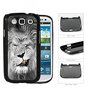Lion With Gold Teeth Smirking Hard Plastic Snap On Cell Phone Case Samsung Galaxy S3 SIII I9300