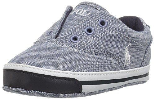 Chambray Crib - Polo Ralph Lauren Kids Boys' Vito II Crib Shoe Blue Chambray 0 M US Infant