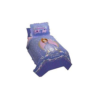 Princess Sofia Exclusive Designed Comfortable Girls Bedding Twin Comforter and Sham Set (Purple): Baby [5Bkhe0411049]