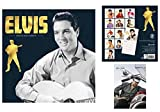 Set: Elvis Presley, Official Calendar 2018 (12x12 inches) And 1x Postcard (6x4 inches)
