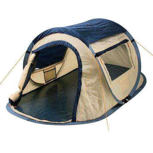 CampFeuer - Sekundenzelt, Wurfzelt 2 Personen - Quicktent - Blau
