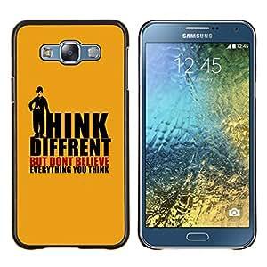 TECHCASE---Cubierta de la caja de protección para la piel dura ** Samsung Galaxy E7 E700 ** --Pensamientos Diferentes Cita Mente Creencia