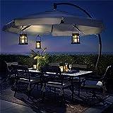 GIGALUMI 8 Pack Solar Hanging Lantern