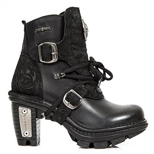 Punk Gothic S1 Stiefelette M Damen NEOTR061 Rock Boots Hardrock New Schwarz w1HCAqZB