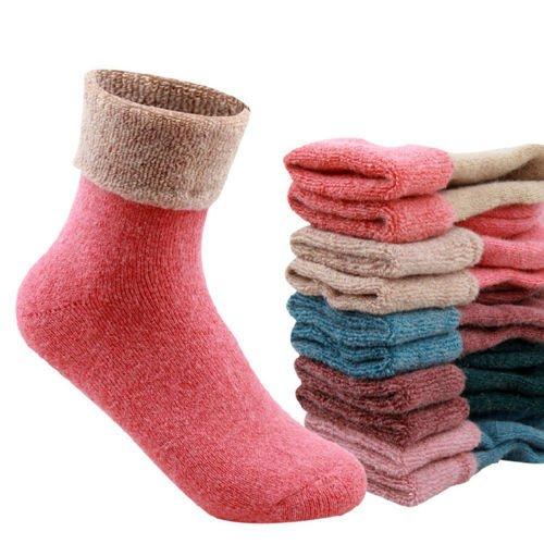 Vale® 5 pares de calcetines de lana de las ovejas de las mujeres del invierno del calcetín caliente: Amazon.es: Ropa y accesorios