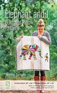 Amazon.com: Ellie Elephant Machine Applique Quilt 35 inch by 34 ... : elephant applique quilt pattern - Adamdwight.com