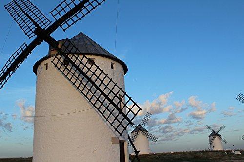 Home Comforts LAMINATED POSTER Don Quixote Windmills Sky Stain Castile - La Mancha Poster