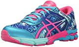 ASICS Gel-Noosa Tri 11 GS Running Shoe (Little Kid/Big Kid), Turquoise/Hot Pink/Asics Blue, 5 M US Big Kid