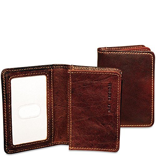 Jack Georges Voyager Business Card Holder, Leather Card Case in - Georges Business Jack Case