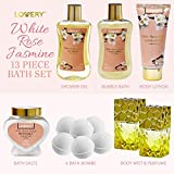 Bath and Body Gift Basket For Women - 13 Piece Set
