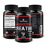 Pure Creatine Tri-Phase ★ Monster Creatine Triphase – x90 tablets (easy to swallow) ★ Monohydrate Alphaketoglutarate Pyruvate (5000mg Complex) ★ Muscle Performance + Boosts ATP ★ Best Creatine Blend Review