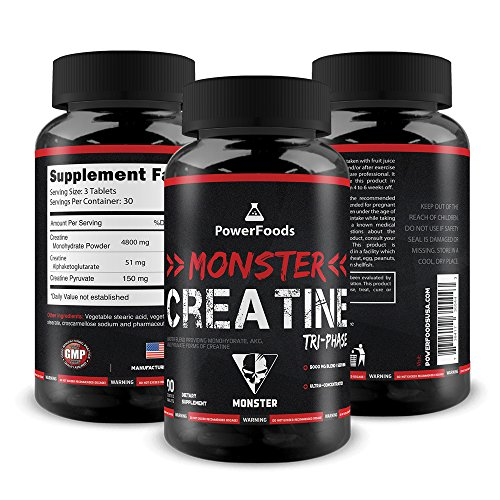 Cheap Pure Creatine Tri-Phase ★ Monster Creatine Triphase – x90 tablets (easy to swallow) ★ Monohydrate Alphaketoglutarate Pyruvate (5000mg Complex) ★ Muscle Performance + Boosts ATP ★ Best Creatine Blend