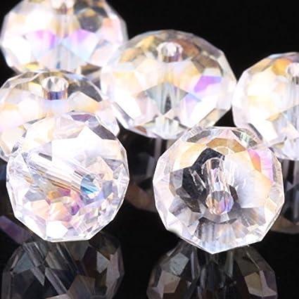 1050ea9c510d7 WEJOY Crystal Rondelle Beads Pick (3mm 4mm 6mm 8mm 10mm 12mm) (6mm Crystal  ab 100 pcs)