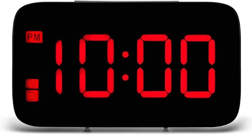 PHUJSA Mesa Digital Relojes De Mesa De Escritorio Carga USB Led ...