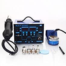 2in1 862BD+ 110V SMD Rework Soldering Station Hot Air Gun & Solder Iron Tools US