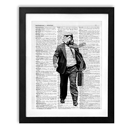 akeke Star Wars Poster, Storm Trooper, Vintage Dictionary Art Print 8x10 Unframed
