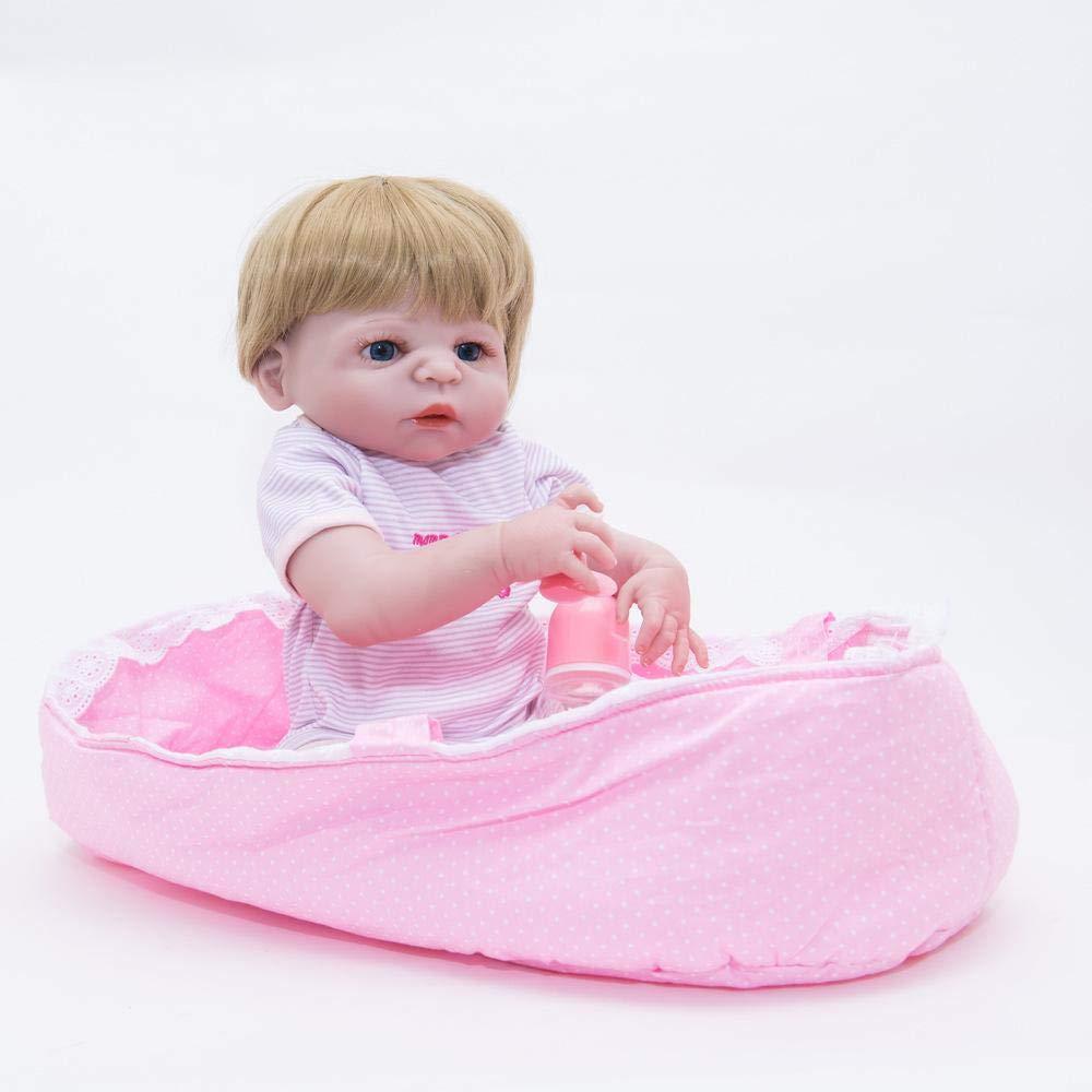 Hongge Reborn Baby Doll,El bebé renacido Realista Puede bañar a la muñeca del silicón del bebé los 55cm