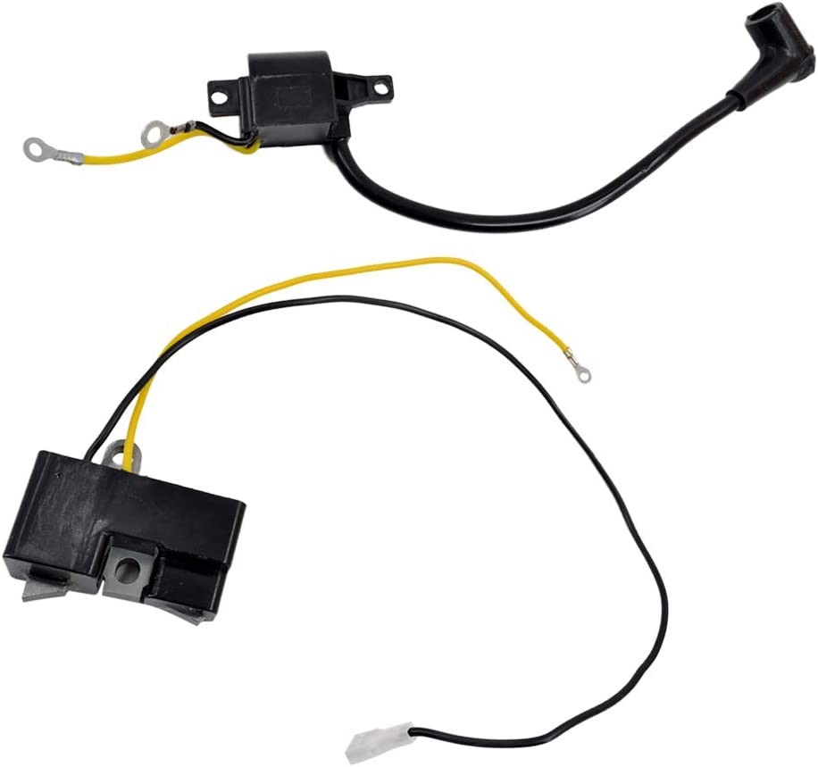 OEM Replacement Ignition Coil Module Kit for Husqvarna 61 66 162 266 Chainsaw 2Pcs Black