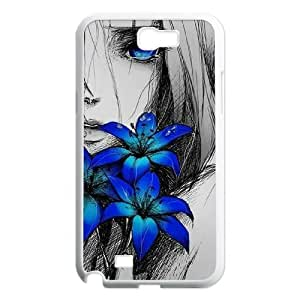 Personalized New Print Case for Samsung Galaxy Note 2 N7100, Art Design Of Girl Phone Case - HL-R673956