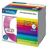 三菱ケミカルメディア Verbatim 1回記録用 DVD-R DHR47JM20V1 (5色レーベル/片面1層/1-16倍速/20枚)