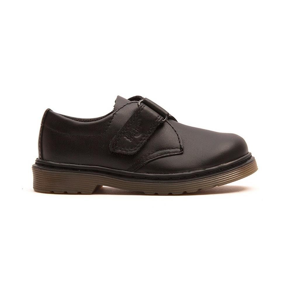 Dr Martens - Sammy Infant - Black Strap Shoes - Click Image to Close