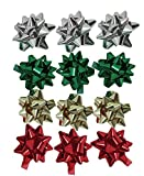 The Gift Wrap Company Mini Adhesive Bows, 12-Count, Metallic (0698)
