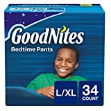 Baby : GoodNites Bedtime Bedwetting Underwear for Boys, L-XL, 34 Ct. (Packaging May Vary)