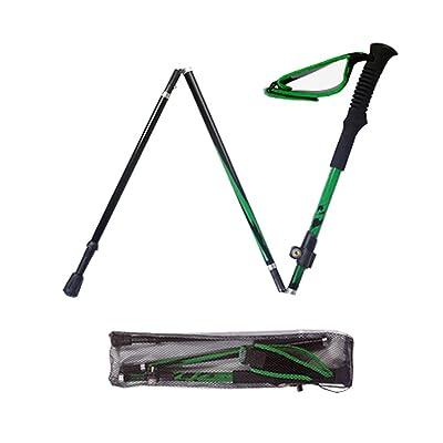 Meijunter 100% E-674K Carbon Fiber Hiker Bâton de Marche Téléscopique Pliant Stick d'escalade Ultralight pliable