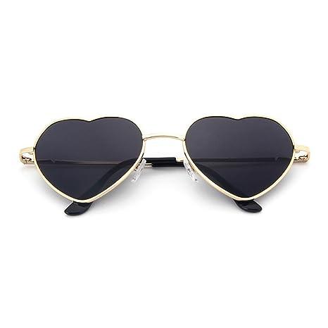 UniqueBella - Occhiali da sole da donna UV400Cuore # 1rosa, #9, Taglia unica