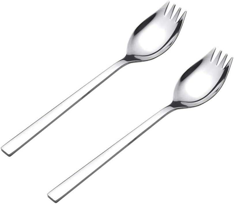 Spork,Healthy & Eco-Friendly Spoon, Fork, Stainless Steel Sporks for Everyday Household Use and Outdoor Camping, Multifunctional Spork for Adults, Children, Senior Citizens and the Disabled, 2-Pack