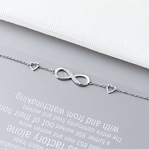 CLEMENT & HILTON Infinity Love 925 Sterling Silve Beautiful Love Symbol Bracelet Specially for Women The Most Intimate Gift(Friends/Mothers) by CLEMENT & HILTON (Image #1)
