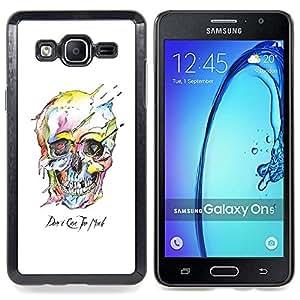 /Skull Market/ - Watercolor Skull White Death Robot For Samsung Galaxy On5 SM-G550FY G550 - Mano cubierta de la caja pintada de encargo de lujo -