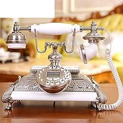DW&HX Classic solid wood antique radio Continental telephone retro home d茅cor-A