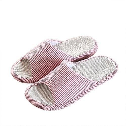 VWU - Zapatillas de estar por casa para mujer Rojo