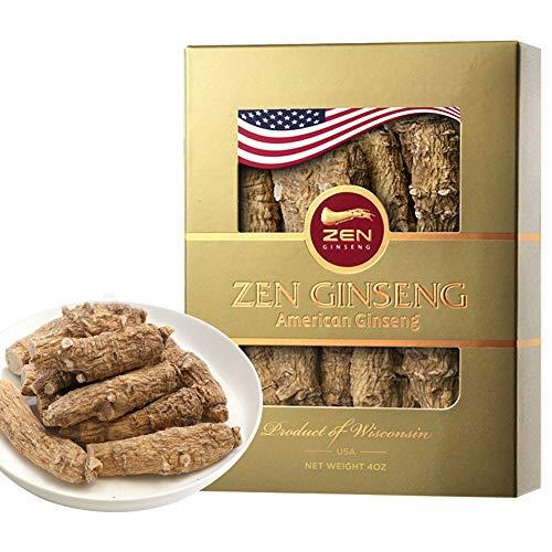 ZenGinseng Half Short Large American Wisconsin Ginseng Root (4oz/Box)