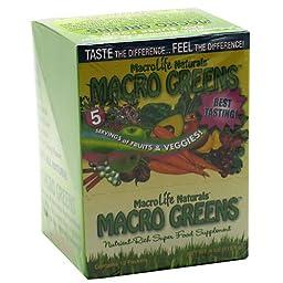 MACROLIFE NATURALS MACRO GREEN PKT BOX, 12/.33OZ