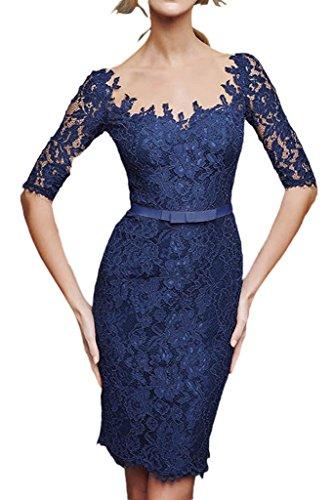 La_Marie Braut 2016 Neu Glamour Royalblau Langarm Schmaler Schnitt Abendkleider Partykleider Festlichkleider Knie-lang